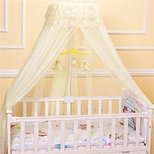 Детская круглая москитная сетка, подвесная сетка для кровати, навес для детской спальни, москитная сетка