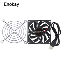 Wholesale 2 Pieces High quality 80MM 5V USB 80x80x15mm 8cm 8015 Brushless DC Cooling Cooler PC CPU Computer Case Fan