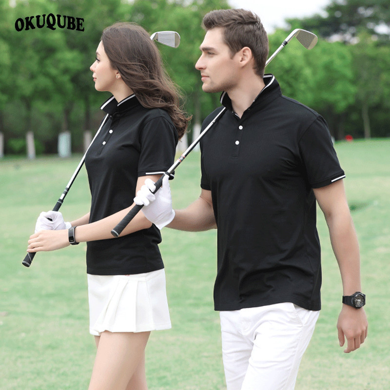 Golf Shirt Men Women Polyester Golf Polo Shirts Turn-down Collar Golf Wear Short Sleeves Jersey Breathable Golf Clothing S-6XL