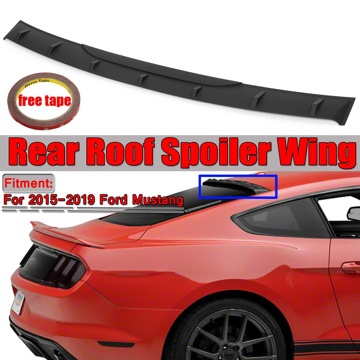 High Quality ABS Car Trunk Rear Roof Spoiler <font><b>Wing</b></font> For Ford For <font><b>Mustang</b></font> <font><b>2015</b></font> 2016 2017 2018 2019 MP Style Rear Spoiler <font><b>Wings</b></font> image