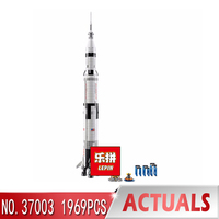 lepin 37003 apollo saturn v compatible with LegoINGlys 21309 vehicle rocket bricks model building kits blocks toy christmas gift