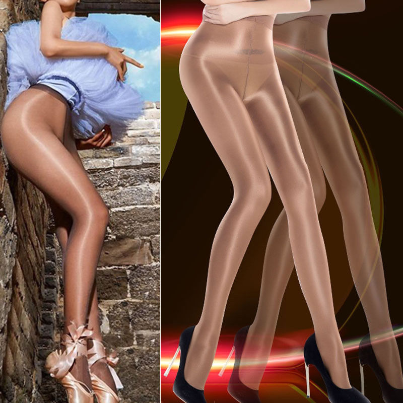 Humorous Women Hot Sale Sexy Solid Slim Classic Hottest Sheer Sexy Shiny Glossy Stocking Oil Pantyhose Tights Underwear & Sleepwears