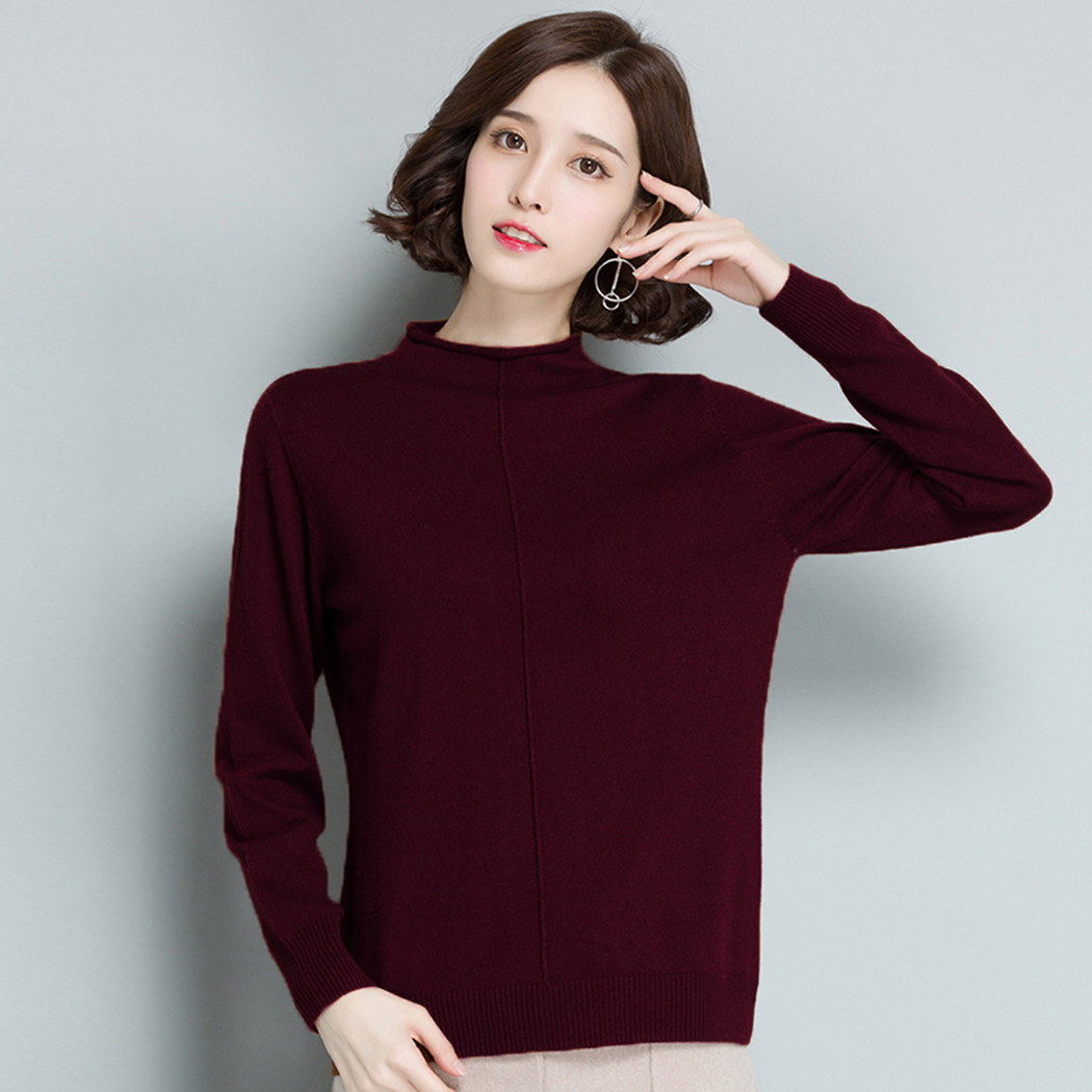 Fashion Women Spring Autumn Knitted Sweaters O-Neck Long Sleeve Pullovers Casual Solid Sweaters Pull Femme Hiver 25 Styles