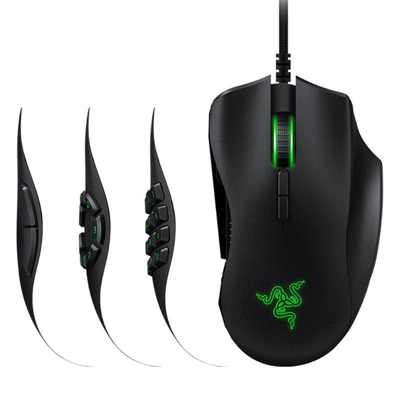 Games Mice Razer Naga Programmable Wired Trinity 16,000 DPI RGB Optical Gaming Mouse