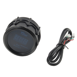 Dragon gauge 2 дюйма (52 мм) цифровой автоматический турбонаддув Калибр с датчиком для авто автомобиля 52 мм LCD-1 ~ 2 бар предупреждающий красный светильник