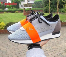 New Arrival Lovers Low top Casual Shoes Man Breathable Mesh Patched Mixed Colors Lace-up Cut Race Trainer women size35-46