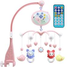 56 x 50 x 8 cm Baby Mobiles Projection Cartoon Learning Toys Baby Crib Bell Rotating Music Toy Mobile Bed Bell Toy for Baby Kids(China)