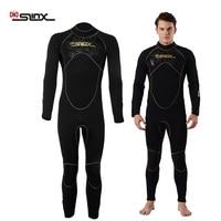 SLINX 5mm Wetsuit Men Neoprene Wetsuit Long Sleeves Warm Fleece Surfing Diving Suit Full Body Diving Snorkeling Surfing Wetsuit
