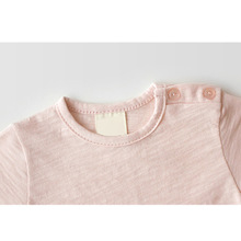 Kids Boys Girls Solid Color T shirt Outwear