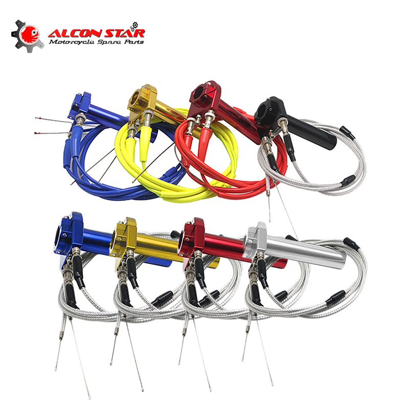 Alconstar Aluminum Throttle Turn Grip Quick Twister + Cable Used At Most Motorcycle 22mm Handbar