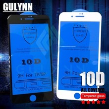 10D Edge Full Cover Tempered Glass On The For iPhone X 7 8 6s Plus 9H Screen Protector For iPhone 8 7 XR XS Max Protective Film цены