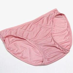 Image 3 - Suyadream 3 pçs/lote calcinha feminina 100% natural seda briefs mid rise underwear roupa interior de saúde 2020 novo todos os dias usar íntimos