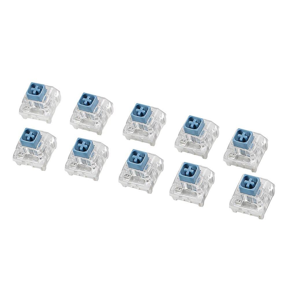 70 pièces Kailh BOÎTE Lourd Bleu Pâle Commutateur Commutateurs de Clavier pour Clavier Personnalisation bricolage Porte-clés Commutateur Kailh BOÎTE Commutateur De Jeu