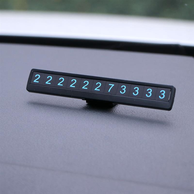 Phone Number Car Parking Number Plate Universal Car Luminous Parking Number Plate Hidden Card Auto Interior Car Accessories
