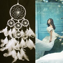 Fashion Gift Tassel & Lace Dreamcatcher Wind Chimes Pendant Big Dream Catcher Home Wall Art Hanging Decorations