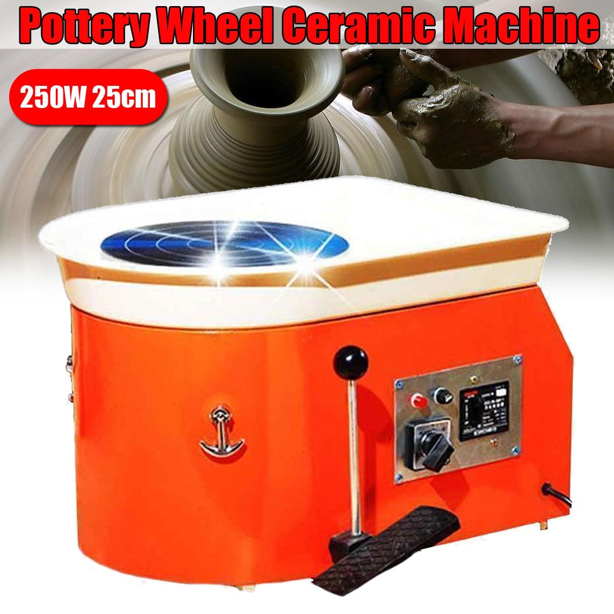 250 W 220 V poterie roue en céramique argile Machine pied pédale en céramique argile Art moule pour le travail de la céramique