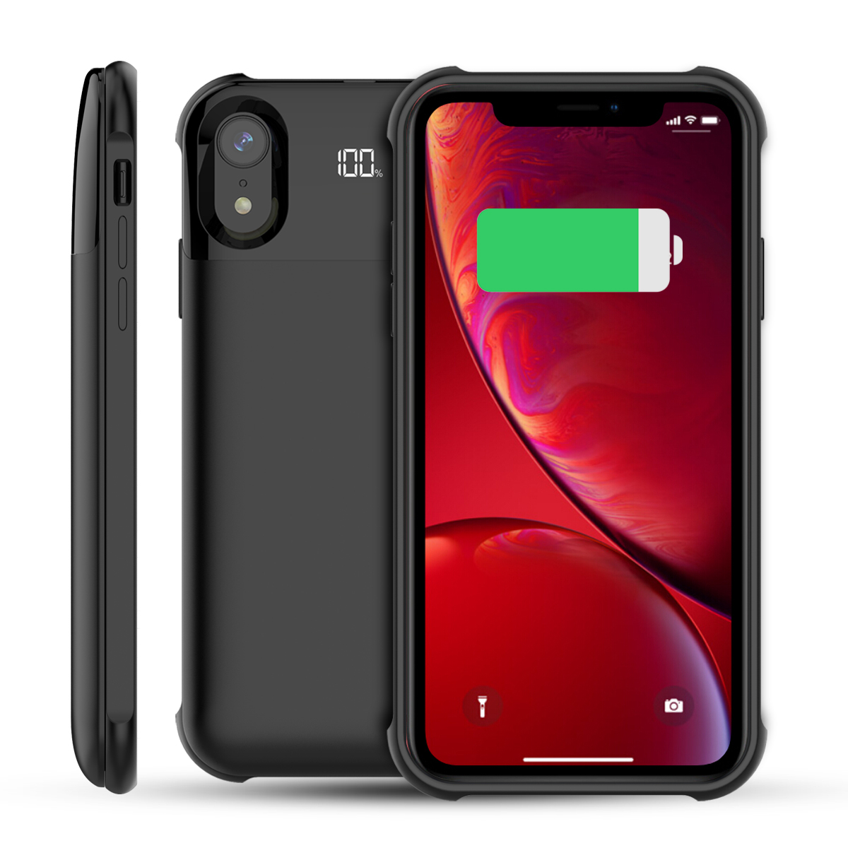 CASEWIN Battery Charger Case For iPhone X XS Power Bank Case 5000mAh External Backup Battery Charging Case With LED Indicator