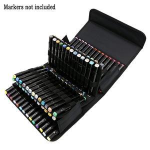 Image 4 - PPYY NEW 80 sloty o dużej pojemności składane marker Case pisaki artystyczne przechowywanie torba do przenoszenia trwałe narzędzia do szkicowania organizator