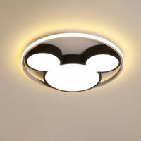 Modern Led Ceiling Light Fixtures Black/White Mickey Ceiling Lamps For Living Children's Room Bedroom 220v Dimmable Plafondlamp
