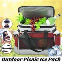 600D oxford cloth 13L Outdoor Camping Picnic Bag Ice Pack Car Cooler Refrigerator Fridge With Charger DC12V