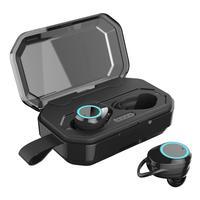 X6 TWS Bluetooth 5.0 IPX7 Earphone Mini Wireless Waterproof Touch Control Stereo Headset Men Women Sports Running Black Earbuds