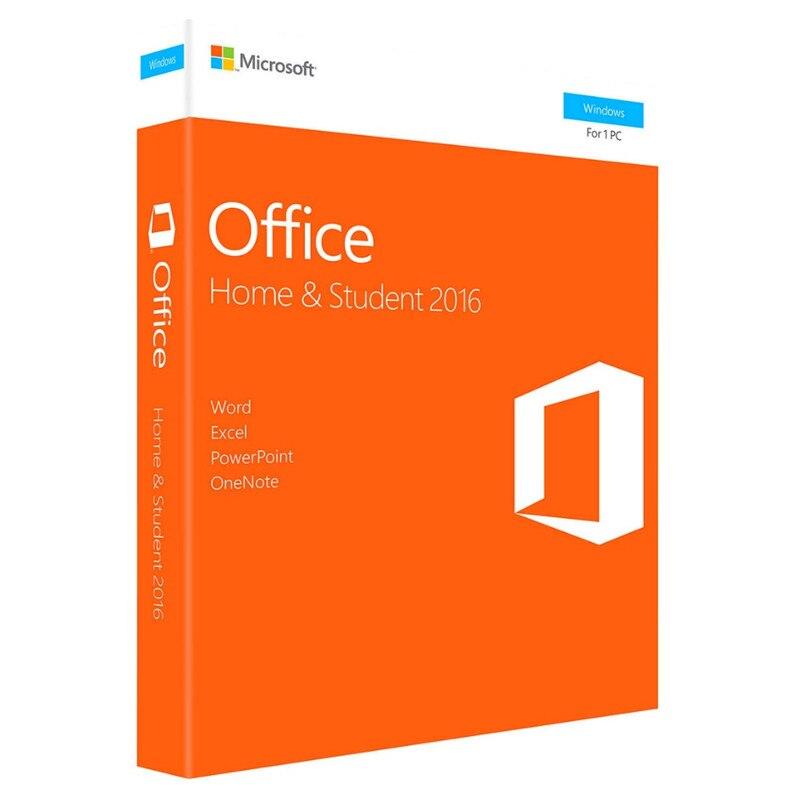 Microsoft office casa e estudante 2016 para windows varejo encaixotado com código chave do produto download do computador