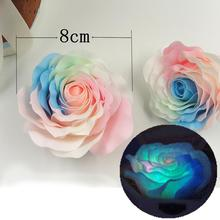 9 Pcs/Box Luminous Rose Pink Heart Soap Flower Flowers Romantic Decor Wedding ValentineS Day Gift for Lover