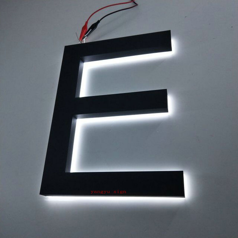Manufacture custom 3D waterproof led light alphabet backlit stainless steel letters
