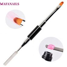 MAFANAILS 1pc UV PolyGel Poly Gel Nail Brush Dual-ended Slice Shape Tool For Tips Extension Building TRP-15#