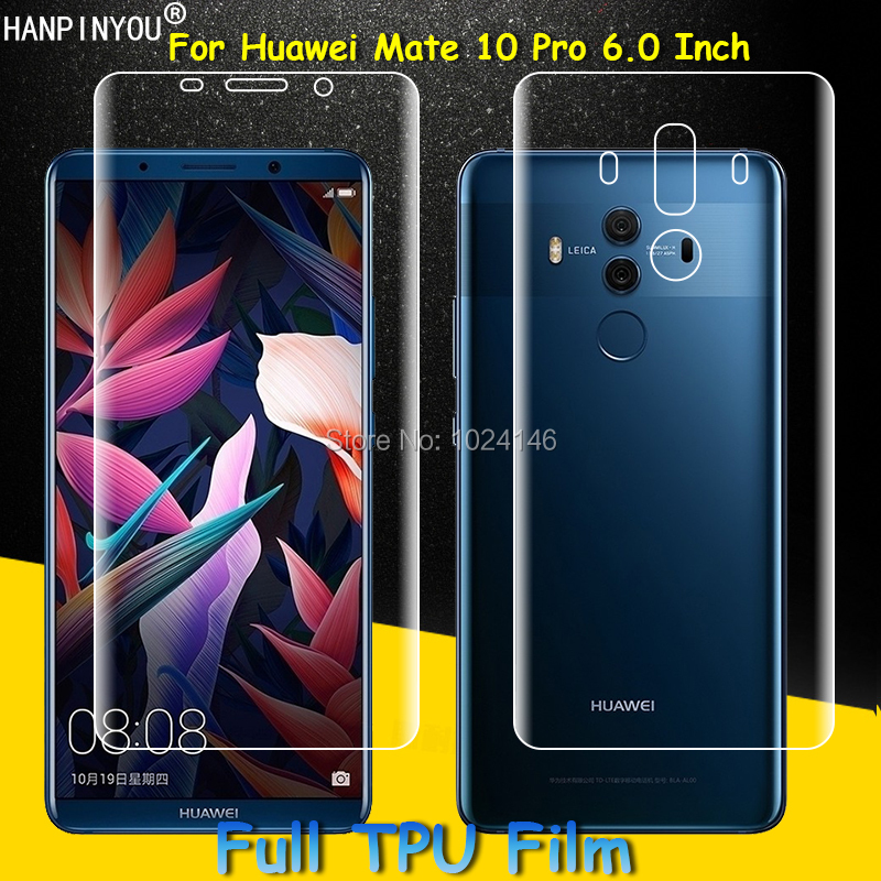 Front / Back Full Coverage Clear Soft TPU Film Screen Protector For Huawei Mate 10 Mate10 Pro Cover Curved Parts (Not Glass