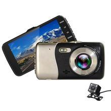 4 pollici LCD IPS Dual Lens Car Dash Cam FHD 1080 P Cruscotto della Macchina Fotografica di Guida Recoder 170 Gradi DVR Del Veicolo del precipitare Della Macchina Fotografica G-Sensor