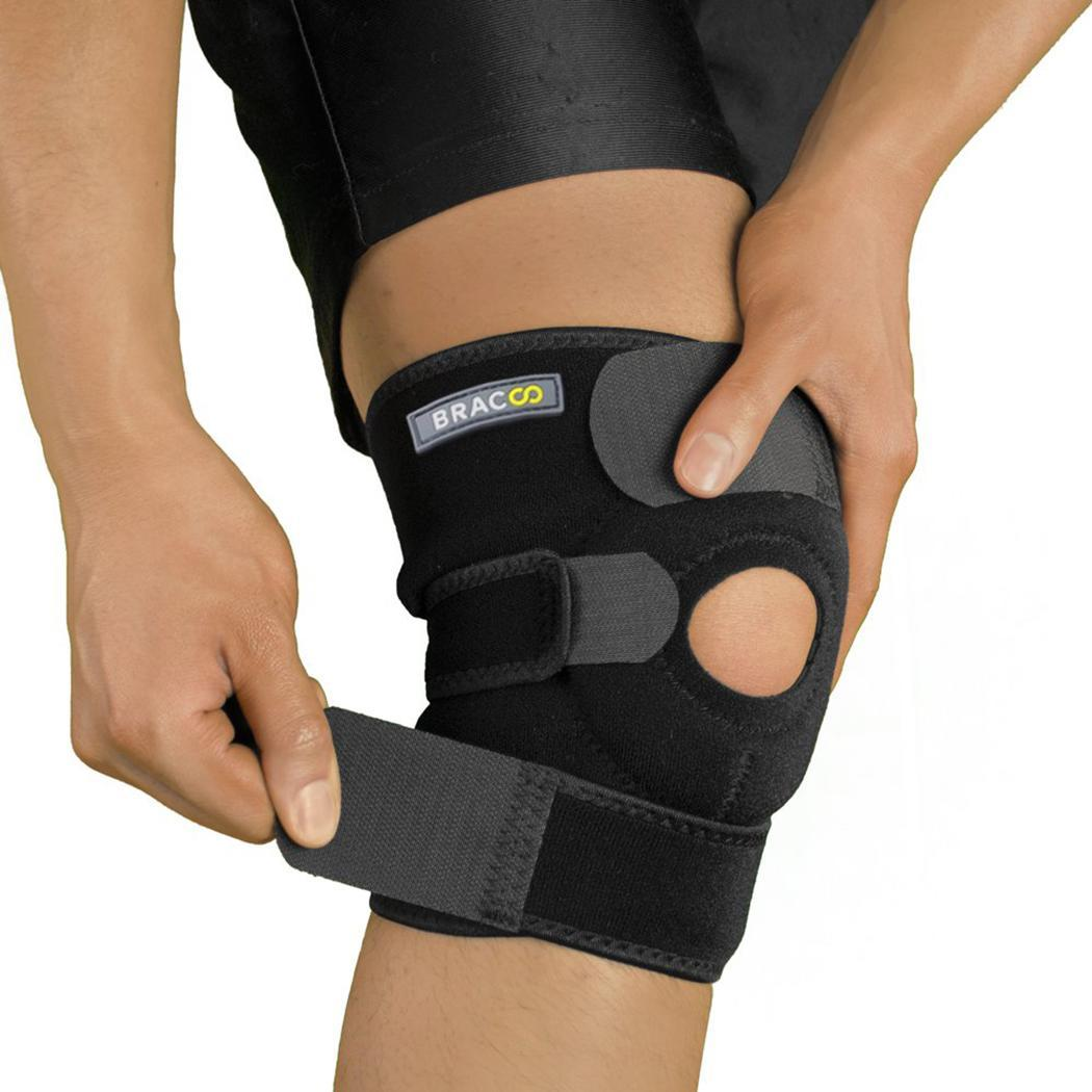 Knee Support Open-Patella Brace For Arthritis Joint Pain Relief Injury Recovery With Adjustable Strapping Breathable Neoprene
