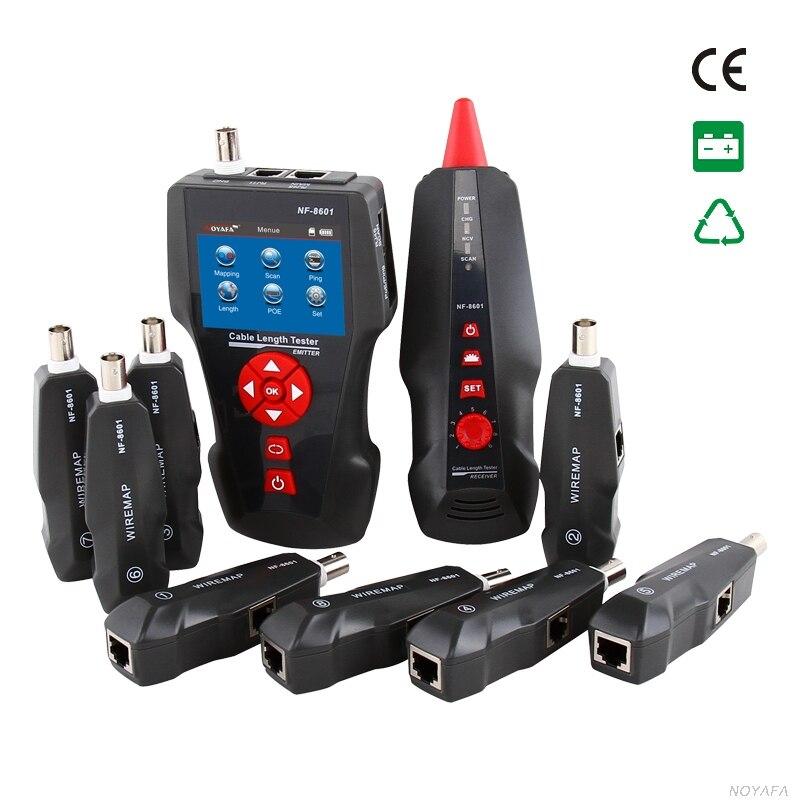 Nouveau NF-8601W Multifonctionnel Câble Réseau Testeur LCD longueur du câble Testeur Breakpoint Tester Outils de Réseautage
