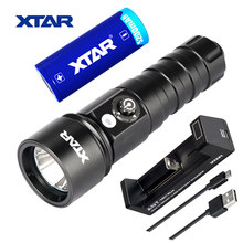 XTAR D26 Diving Flashlight 4 Mode 1100 Lumens LED Lighting flashlight Waterproof Underwater + 26650 battery + MC1 PLUS charger(China)