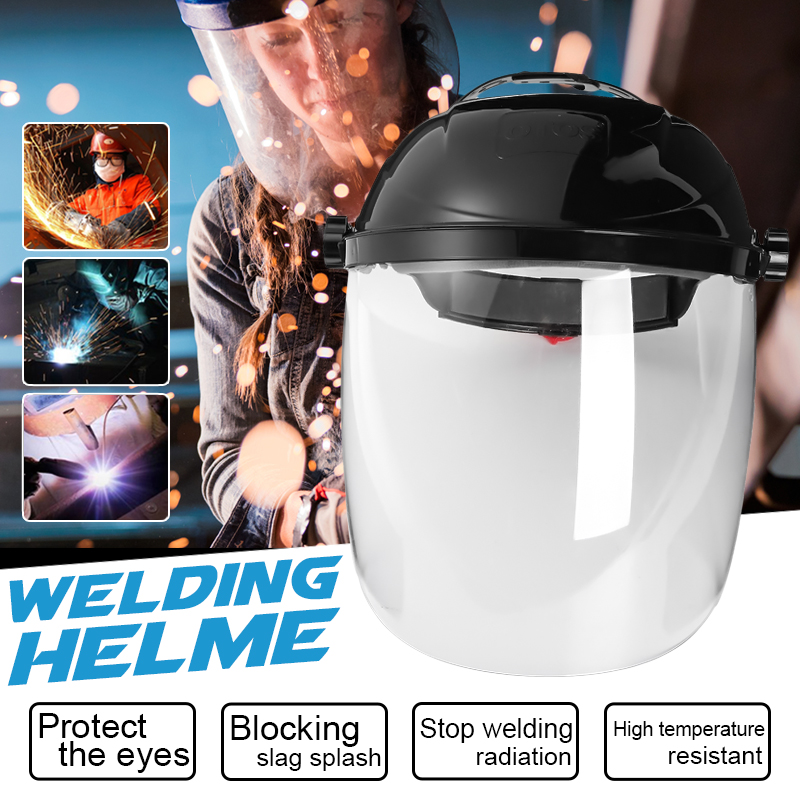 New Transparent Lens Anti-UV Anti-shock Welding Helmet Face Shield Solder Mask Face Eye Protect Shie