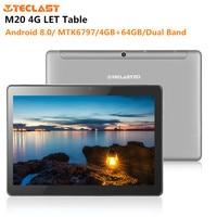 Teclast M20 4G LET планшет на Android 8,0 10,1 ''MTK6797 Deca Core 4 Гб + 64 Гб планшеты PC Dual Band 2,4 г/5 г Wi Fi 6600 мАч