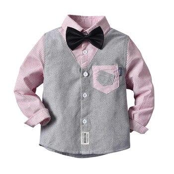 Promoción, gran oferta, camisas para niños, camisas clásicas informales de franela a rayas para niños de 2 a 6 años, ropa para niños, camisetas para la escuela