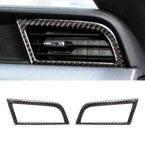 Image 2 - Für Ford Mustang 2015 2016 2017 2 stücke Carbon Faser Auto Innen Seite Klimaanlage Air Vent Outlet Dekor Abdeckung