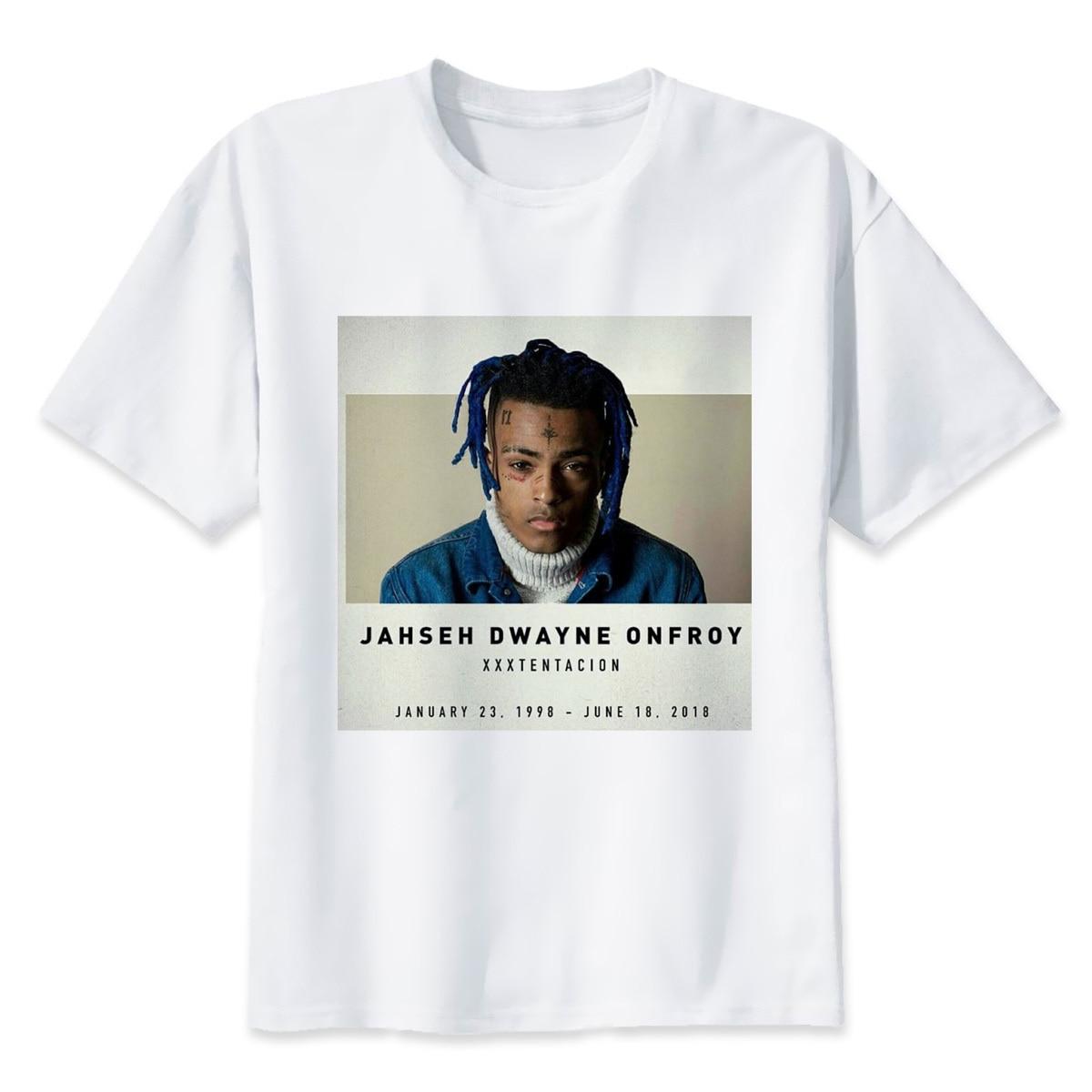T Shirts Men Character Printed Men's T Shirt O-Neck  T-Shirt For Male Xxxtentacion JAHSEH DWAYNE ONFROY
