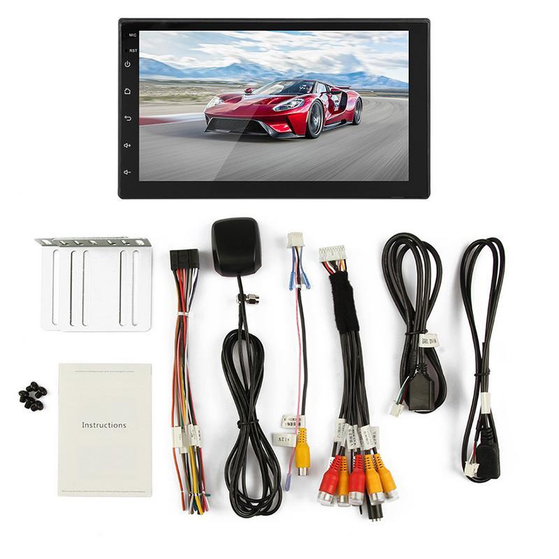 7 pollice HD Per Auto Bluetooth Auto Lettore MP5 Dual Lingotto Universale Android 7.1 Dello Schermo di Tocco di Pulsante 2DIN di Navigazione GPS Per Auto multimedia