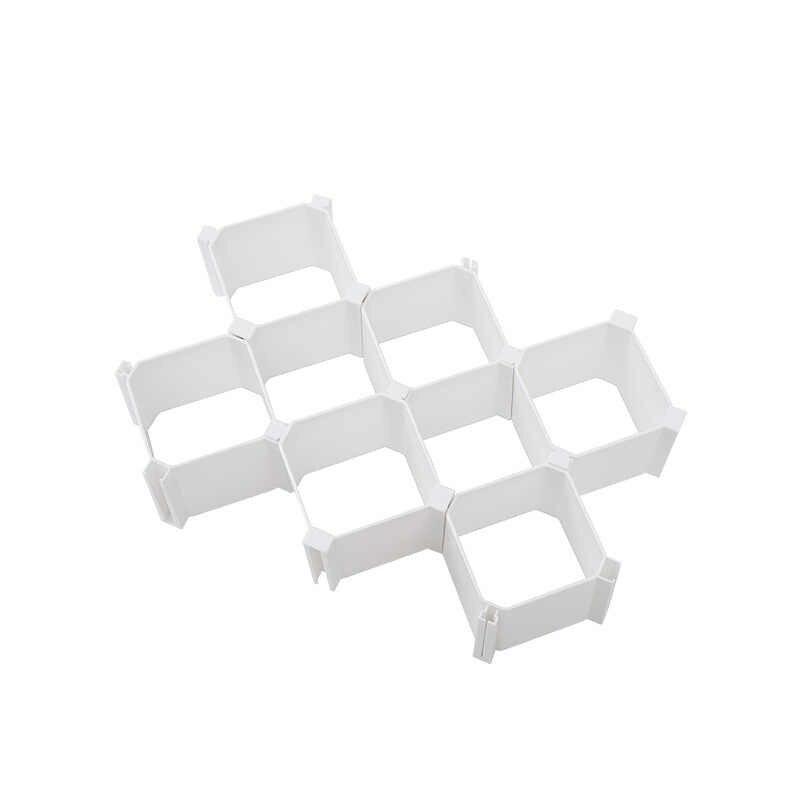 ハニカム靴下下着収納ボックスプラスチックコンパートメントキャビネットワードローブ引き出し仕上げパーティションフリーコンビネーション