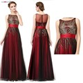 Burgundy <font><b>Prom</b></font> <font><b>Dresses</b></font> Long 2018 Ever Pretty A-line Sleeveless Sparkle Sequins Cheap Special Occasion <font><b>Dress</b></font> Vestido De Formatura