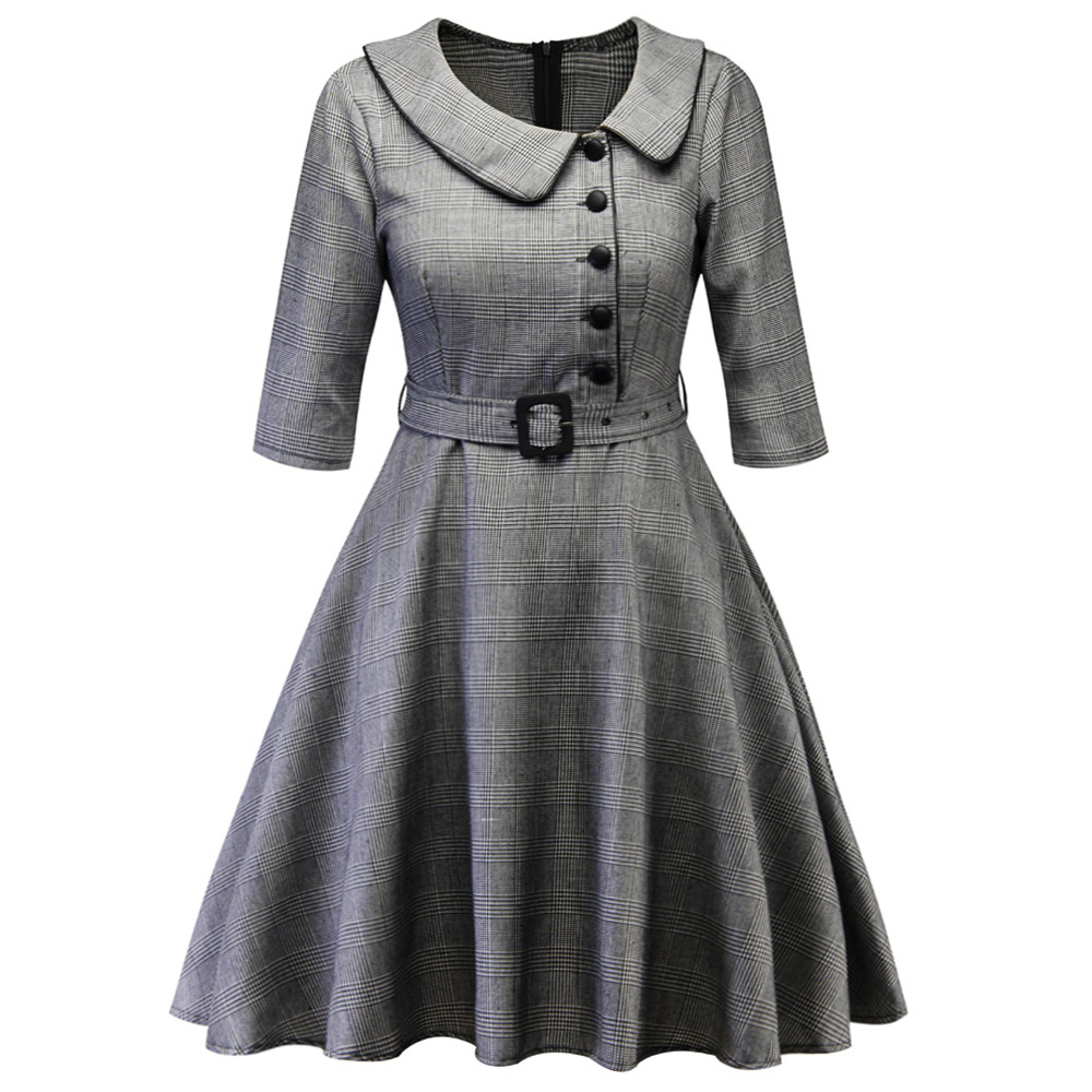 best top plaid dress with sash and peter pan collar ideas ...