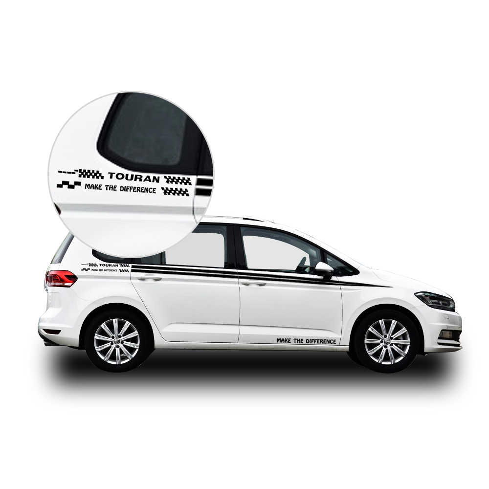Car accessories for volkswagen vw touran car sticker auto side body decal sticker decals diy car