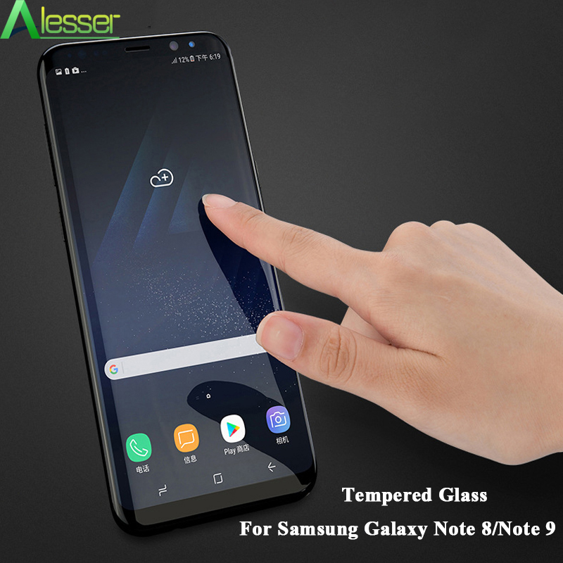 Alesser For Samsung Galaxy Note 8 Tempered Glass 6D Full Curved Screen Protector For Samsung Galaxy Note 9 Glass Film in Phone Screen Protectors from Cellphones Telecommunications