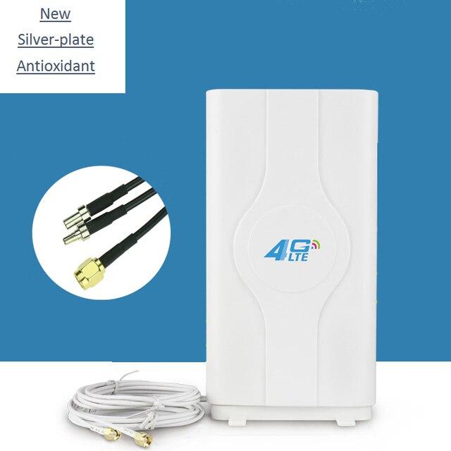 3 กรัม 4 กรัม LTE เสาอากาศเสาอากาศ Booster mimo เสาอากาศ 2 * sma/TS9/ CRC9 Connector 2 เมตรสาย 700 ~ 2600 เมกะเฮิร์ตซ์ 88dBi