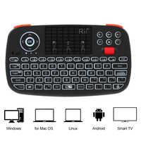 Rii i4 Mini keyboard Wireless Keyboard Bluetooth 2.4GHz remote control keyboard Handheld Fingerboard Backlit Mouse Touchpad