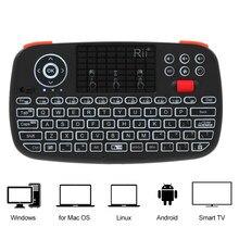 Rii i4 Mini klavye Kablosuz Klavye Bluetooth 2.4 GHz uzaktan kumanda klavye El Klavye Arkadan Aydınlatmalı Fare Touchpad