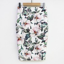 2019 Fashion New Women Floral Printed Casual Pencil Skirt Summer High Waist Bodycon Mini Skirts