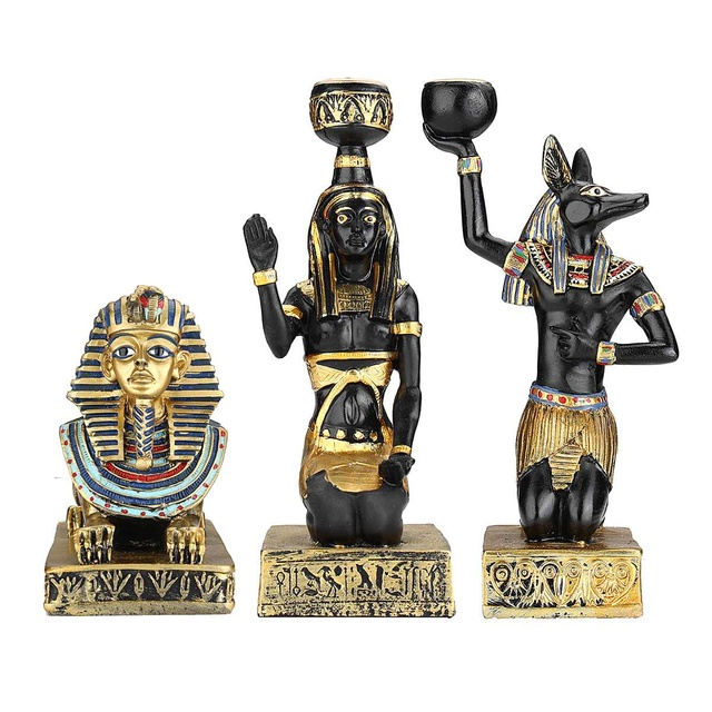 US $10 91 46% OFF|candlestick sphinx Retro Candleholder Home Decor  Ornaments Ancient Egyptian Goddess Anubis Shape Vintage Statue Crafts  gift-in